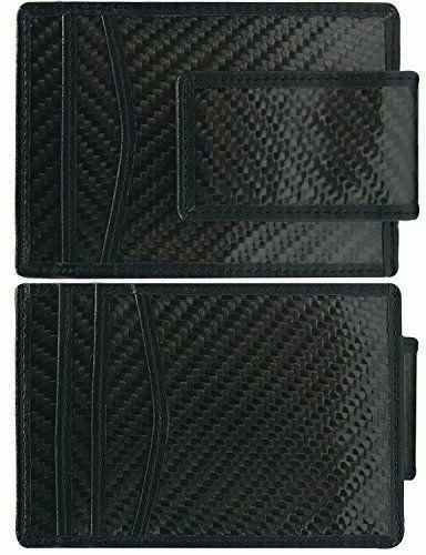 carbon fiber money clip rfid mens slim