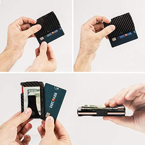 Carbon Fiber Money Clip Wallet - Card Mens Card Holder 2019 Upgraded Version