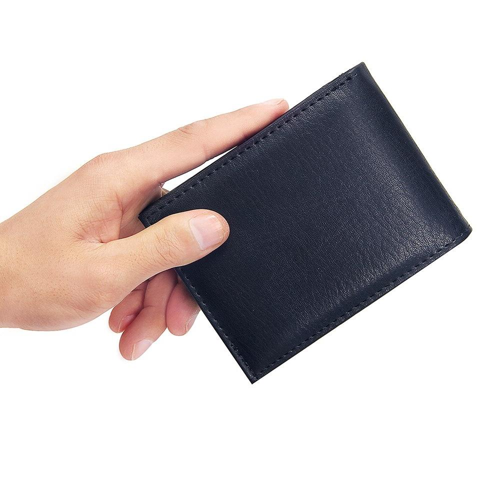 Casual <font><b>Wallets</b></font> Leather Solid Short Credit Card Holder Business