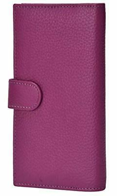 Leather Checkbook Cover for Men Women – Duplicate Check cr