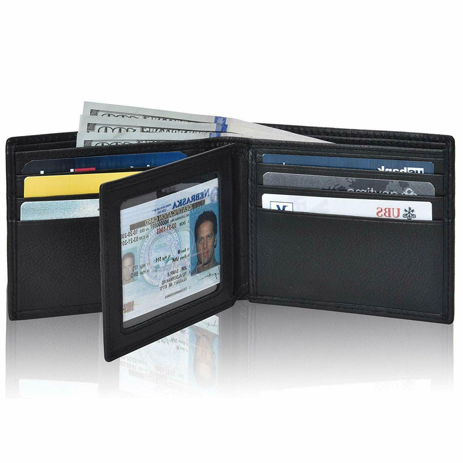 Clifton Heritage Men's Leather RFID Blocking Bifold Wallet,
