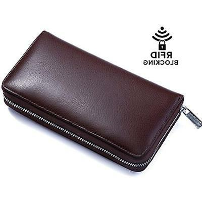 Buvelife Card Wallet Leather With For Women Storage