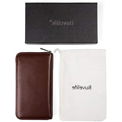 Buvelife Credit Card Leather With For Women Storage