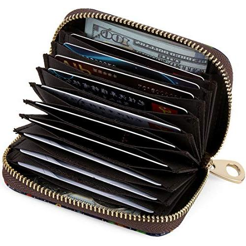 Buvelife Credit RFID Zipper Clutch Wallets, Wallet for