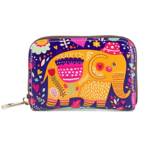 Buvelife Credit Card Wallet RFID Leather Zipper Clutch Walle