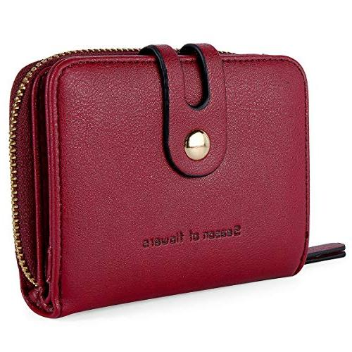 credit card wallet with zipper bifold rfid