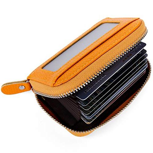 Buvelife Credit Card Zipper Leather Protector ID