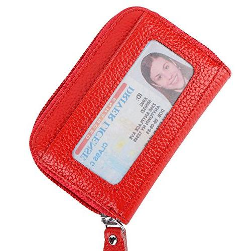 credit card wallet zipper leather wallet rfid