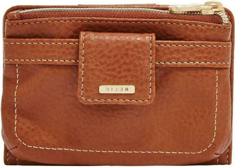 Relic Fossil Women's Saddle Brown Snap And Zip Multifunction