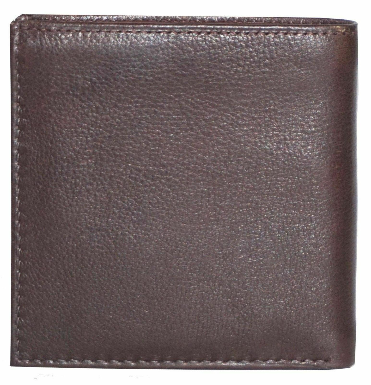 Genuine Leather 2 ID's Double Brown