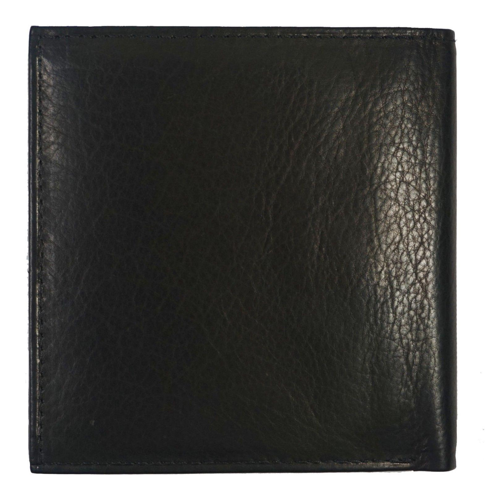 Genuine Bifold 2 Double Flap Popular Black