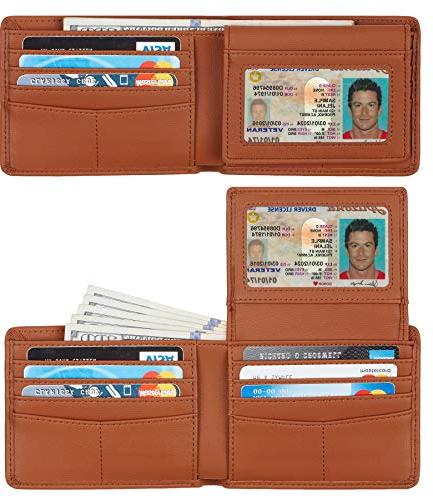 genuine leather rfid blocking wallets mens wallet
