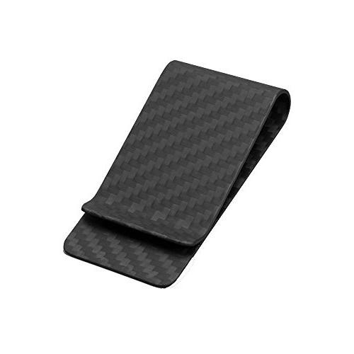 Genuine Carbon Fiber Matte Money Clip Credit Card Business C