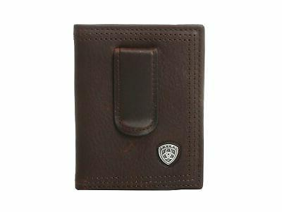 leather front pocket bifold money