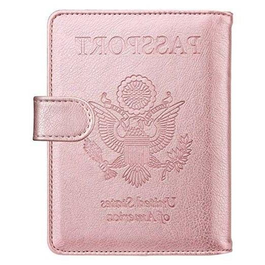 leather passport holder cover case travel wallet