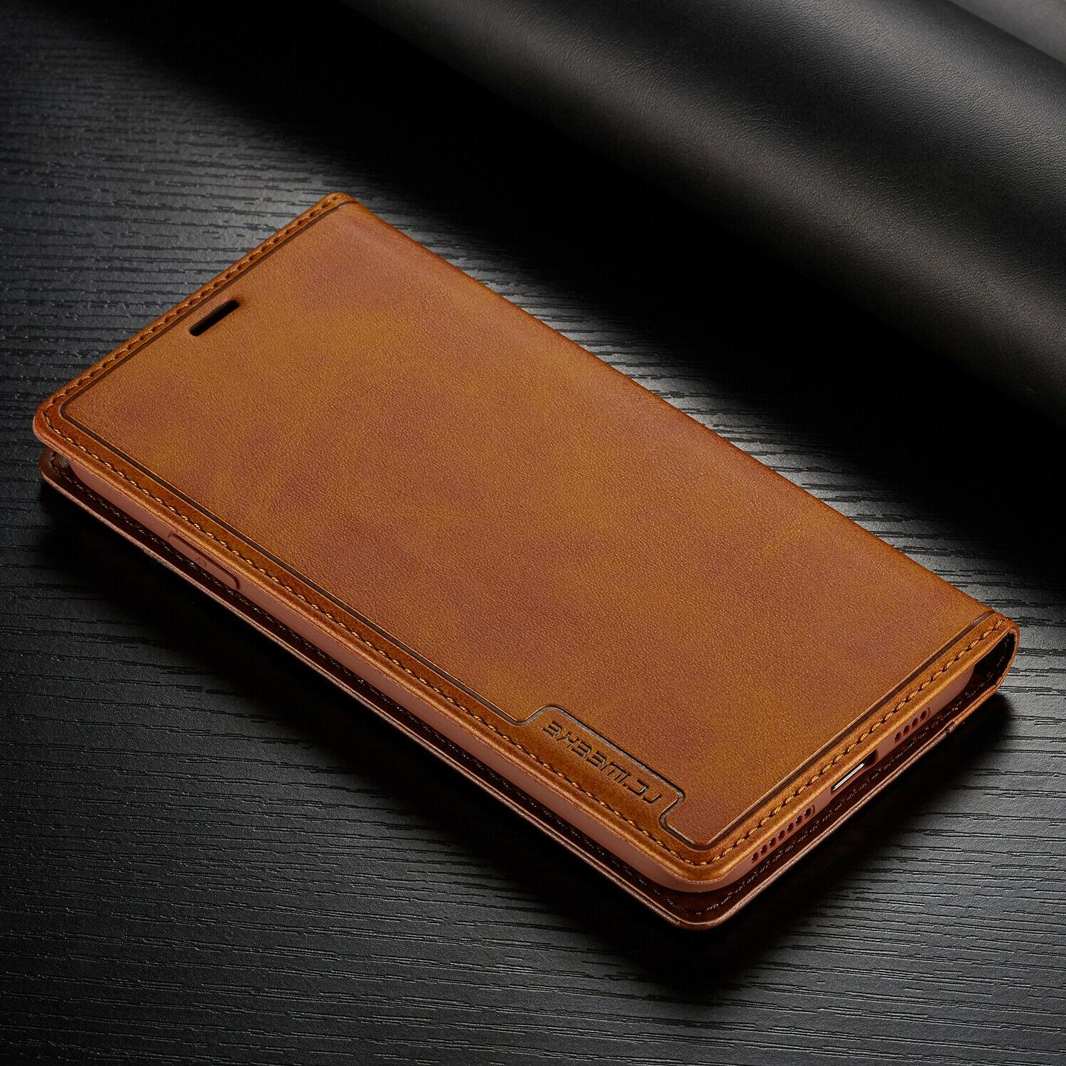 Leather Wallet Magnetic Card Case For 11 PRO XS XR