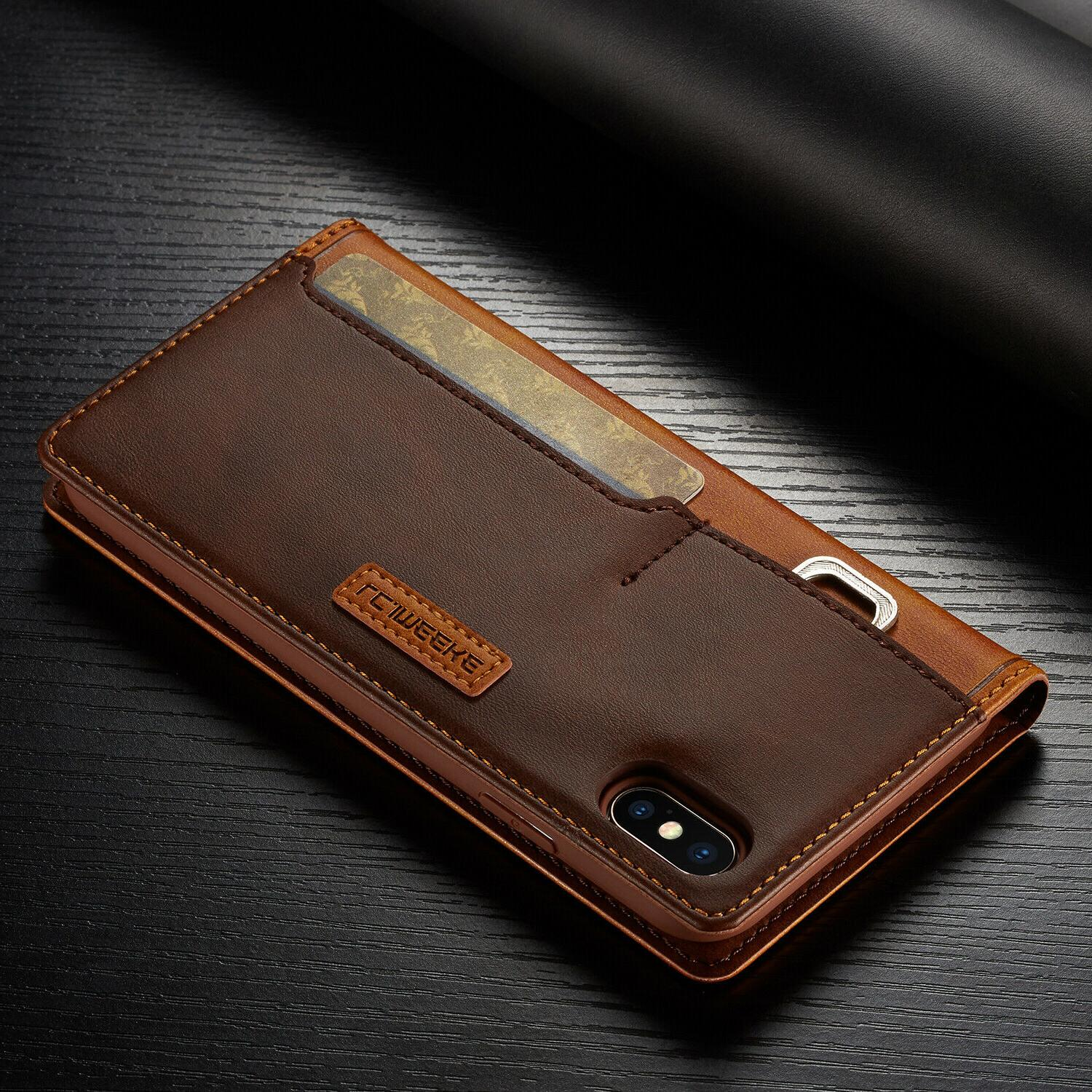Leather Magnetic Cover Card Case 11 MAX XR Plus