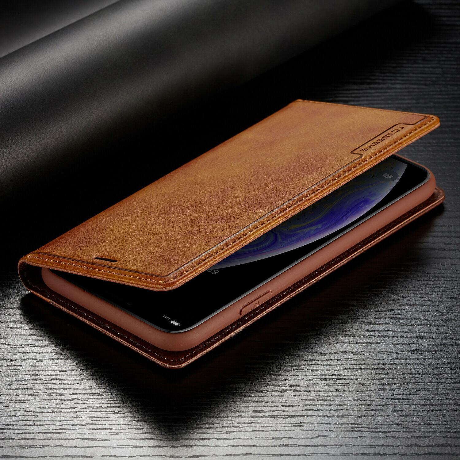 Leather Magnetic Card Case iPhone 11 PRO XS XR Plus
