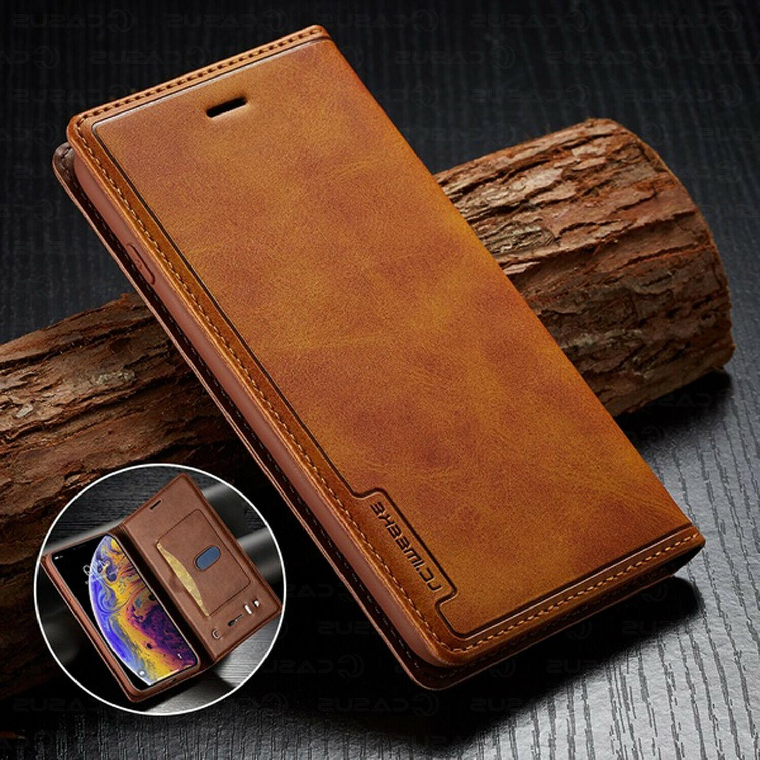 leather wallet magnetic cover card case