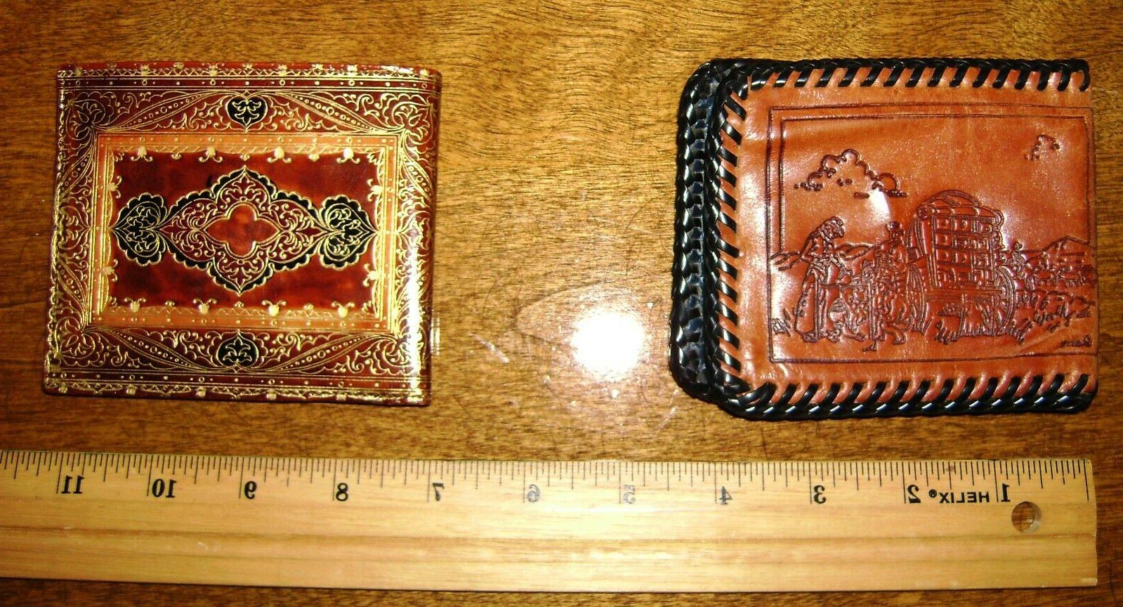 lot of 2 leather wallets 1 made