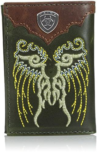 men s fancy boot embroidery tri fold