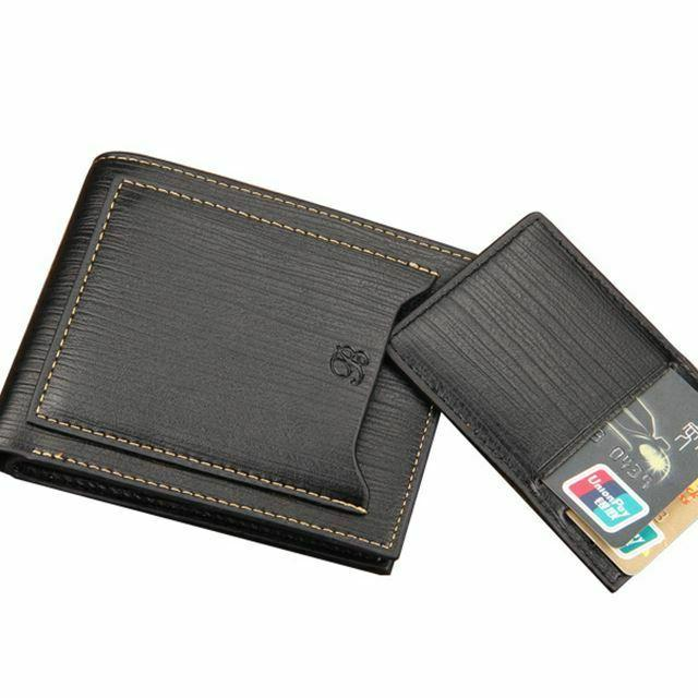 Men's Leather Credit Card ID Cash Coin Clutch