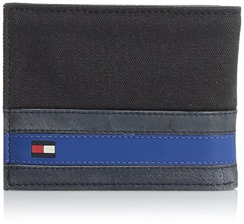 men s leather passcase wallet with removable