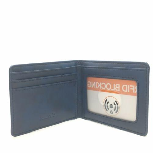 Hissimo Men's Slim Front Pocket Wallet ID Window Card Case with Blocking