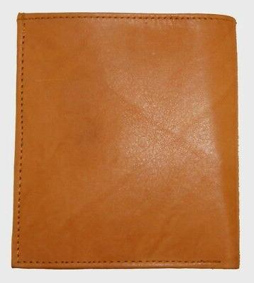 Mens Genuine Leather Wallet ID Tan