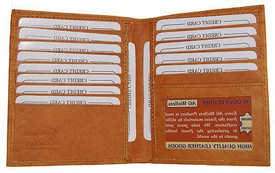 mens genuine leather bifold wallet slim hipster