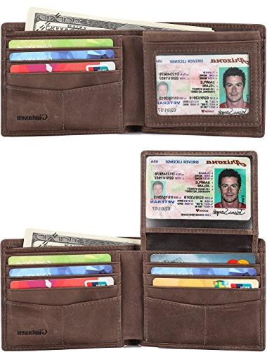 Mens Bifold Wallet ID Window and -