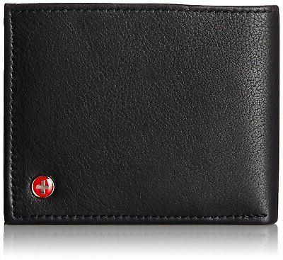 mens rfid blocking leather wallet multi card