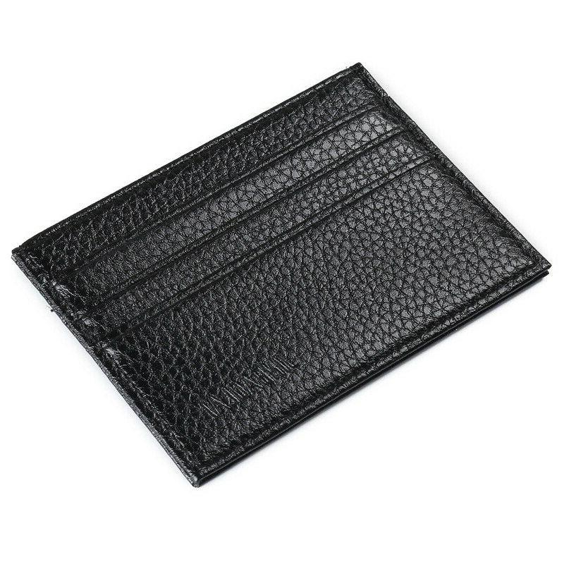 Mens Slim Leather Card Wallets Credit Thin
