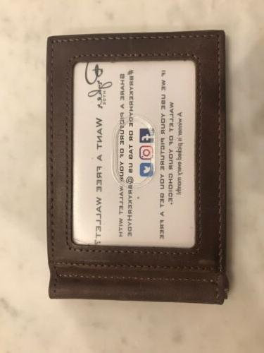 BRYKER Minimalist Wallet Texas Brown