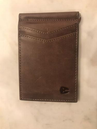 BRYKER HYDE Minimalist ID Wallet Brown