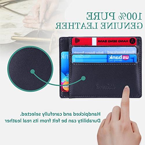 Minimalist Mens RFID Front Pocket Wallet Secure Thin Credit