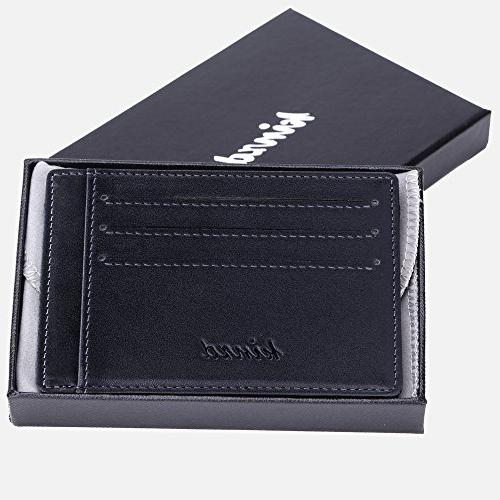 Minimalist Mens RFID Front Pocket Wallet Secure Thin Credit Card Holder