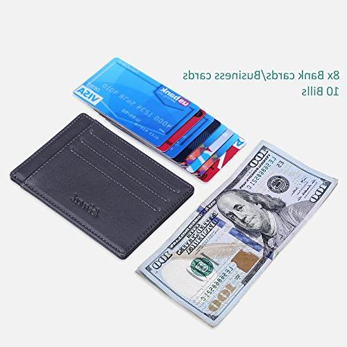 Minimalist Mens Wallet RFID Front Wallet Secure Thin