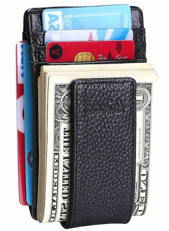 Money Clip, Front Wallet, Leather Strong