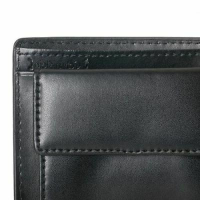 New Men's Leather Id Billfold With Black 79600