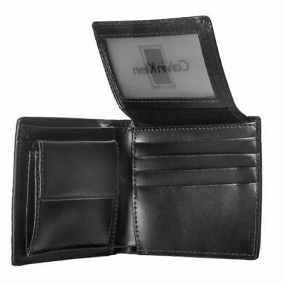 New Men's Leather Billfold With Black