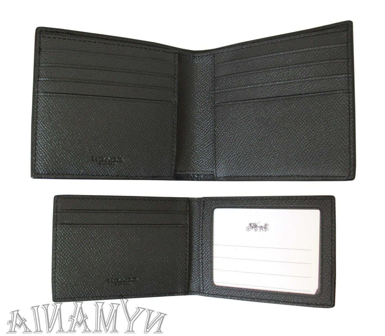 New COACH 3-IN-1 Leather Black BOX