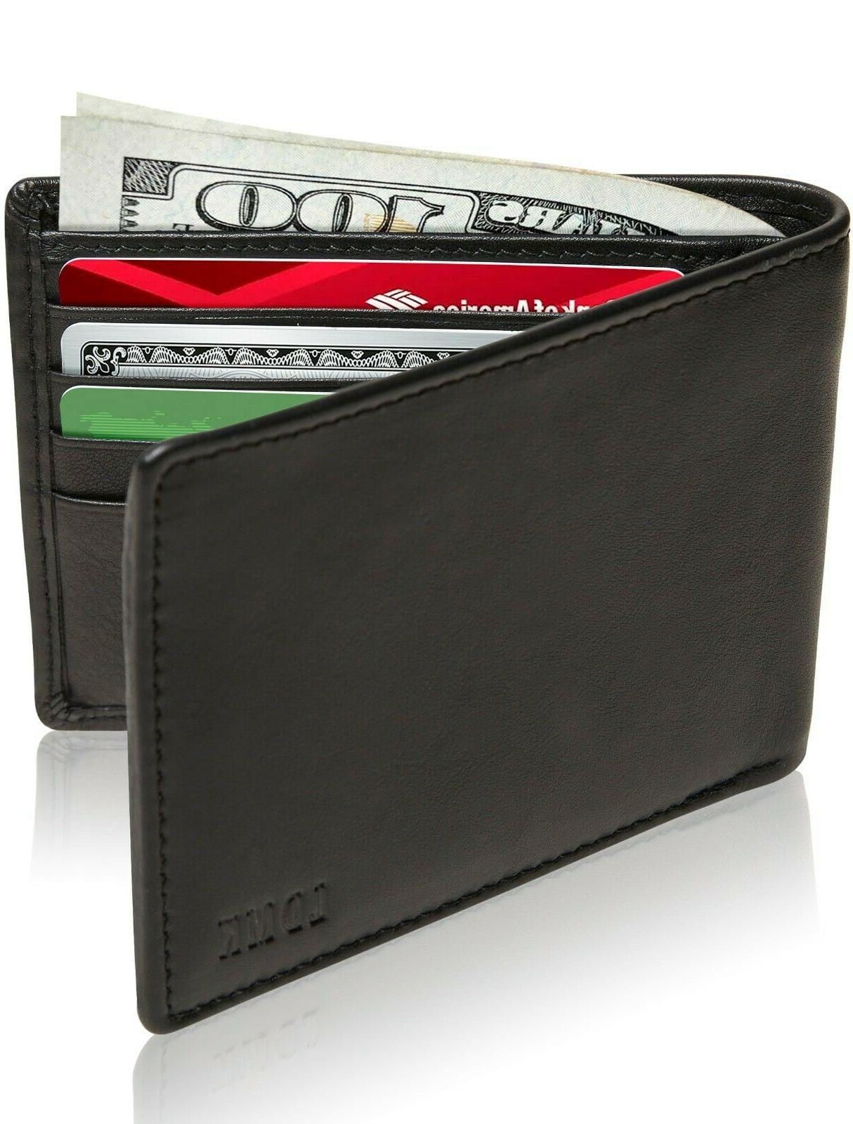 new genuine leather wallets for men slim
