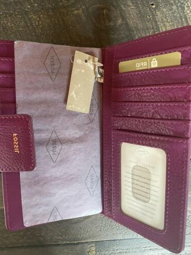 New with Logan Wallet in Purple