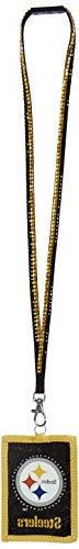 NFL Pittsburgh Steelers Beaded Lanyard with Nylon Wallet