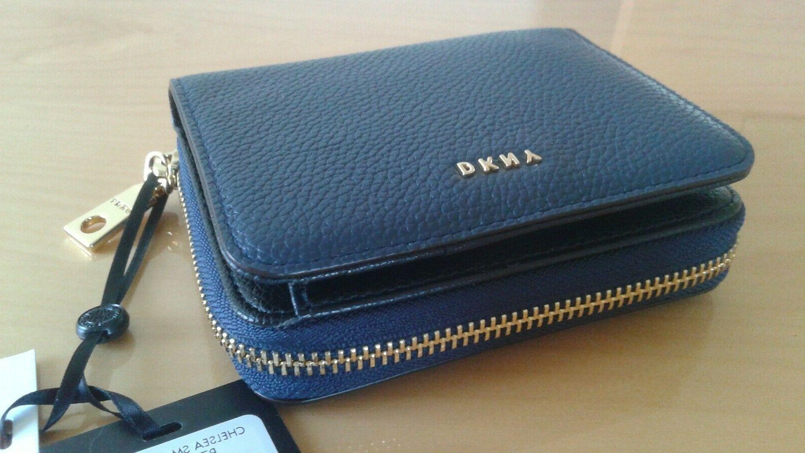 nwt dkny chelsea sm caryall wallet leather