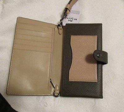 nwt multifunction snap leather wallet phone case