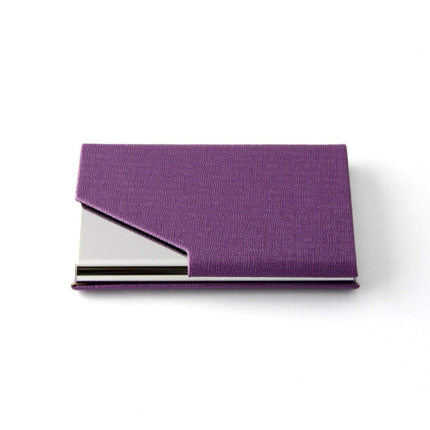 PU Leather Pocket Business Credit Card Holder US