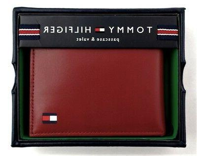 red leather mens passcase bifold