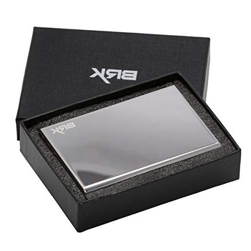 Best for Men Women, Safe for and Includes for cards, cards, driver license, Security your Steel Metal Wallets